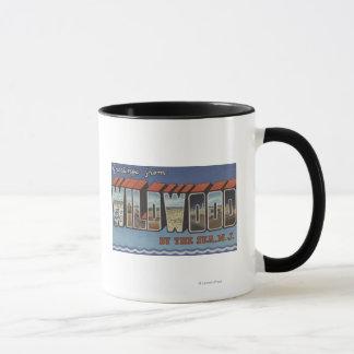 Large Letter Scenes - Wildwood-By-The-Sea, NJ Mug