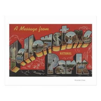 Large Letter Scenes - Yellowstone Nat l Park WY Postcard