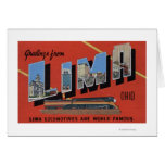 Large Letters - Lima Locomotives are World Card