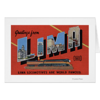 Large Letters - Lima Locomotives are World Greeting Card