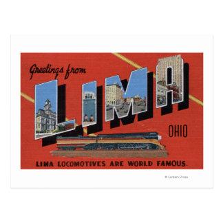 Large Letters - Lima Locomotives are World Postcard