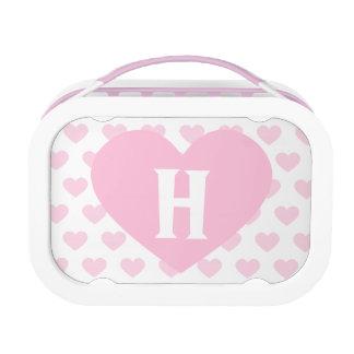 Large Light Pink Heart -Monogram Yubo Lunchbox