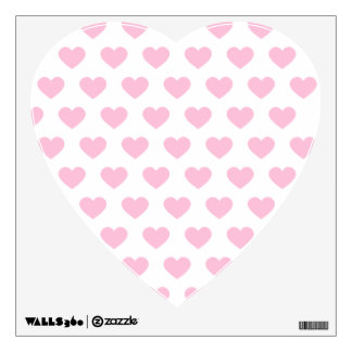Large Light Pink Heart -Monogram Wall Graphics