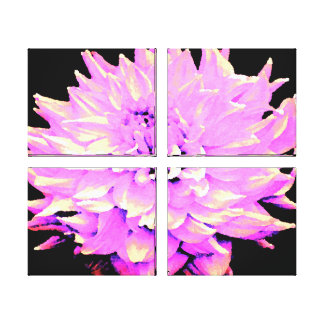 Large Lilac Dahlia Stretched Canvas Prints