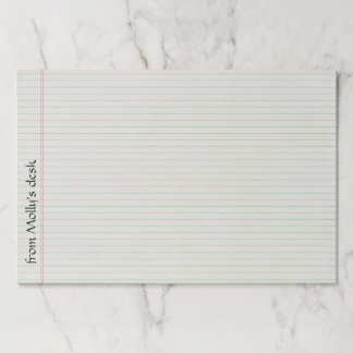 Large Lined Notebook Tearaway Paper Pad