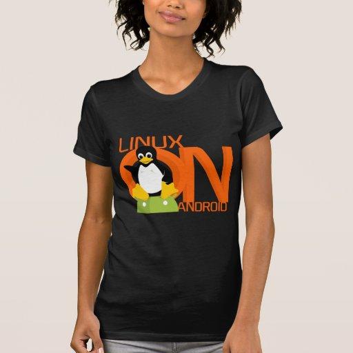 Large LinuxonAndroid logo T-Shirt