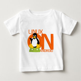 Large LinuxonAndroid logo Tee Shirt
