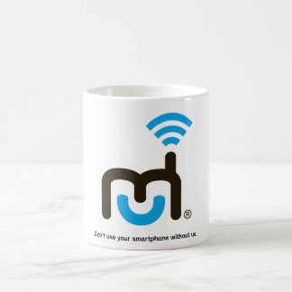 Large Logo and Tagline Classic White Coffee Mug