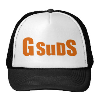Large logo apparel mesh hats