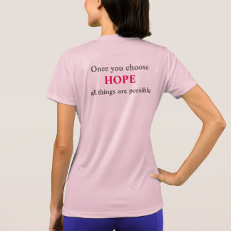 Large Logo front - Hope back T-Shirt