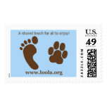 Large LOOLAorg US Postage Stamp