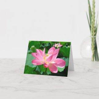 Large Lotus Flower Thank You Card