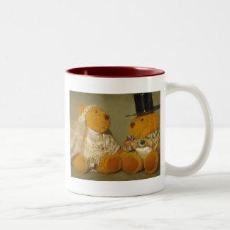 Large love Two-Tone coffee mug