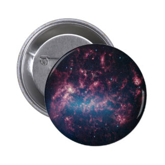 Large Magellanic Cloud - Galaxy and Stars 2 Inch Round Button