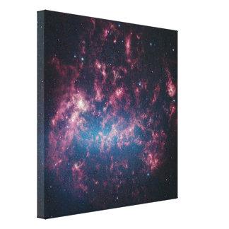 Large Magellanic Cloud - Galaxy and Stars Canvas Print