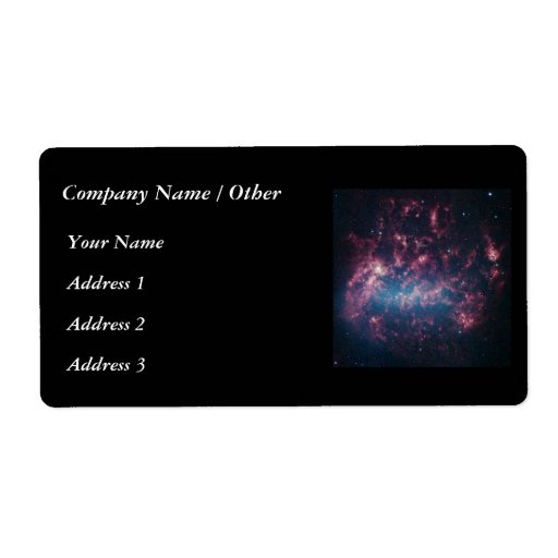 Large Magellanic Cloud Personalized Shipping Label