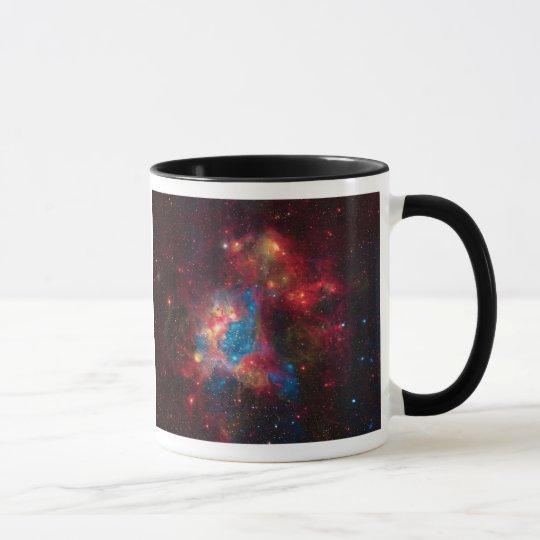 Large Magellanic Cloud Superbubble in Nebula N44 Mug