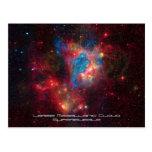 Large Magellanic Cloud Superbubble in Nebula N44 Postcard