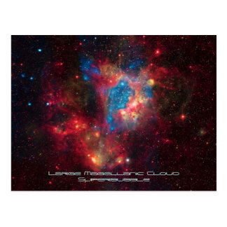 Large Magellanic Cloud Superbubble in Nebula N44 Postcard