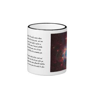 Large Magellanic Cloud Superbubble in Nebula N44 Ringer Coffee Mug