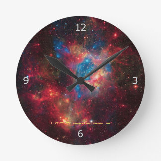 Large Magellanic Cloud Superbubble in Nebula N44 Round Clock