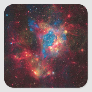 Large Magellanic Cloud Superbubble in Nebula N44 Square Sticker