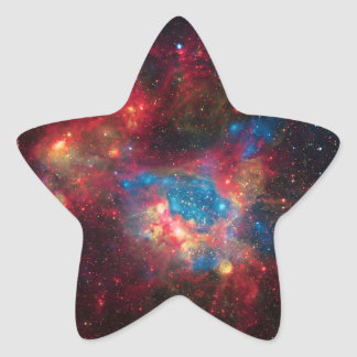 Large Magellanic Cloud Superbubble in Nebula N44 Star Sticker