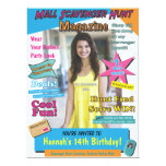 Large Mall Scavenger Hunt Birthday Magazine Cover Personalized Invites