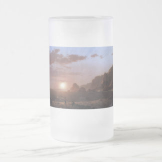 Large Manan Island, Bay of Fundy by Frederick Edwi Frosted Glass Beer Mug