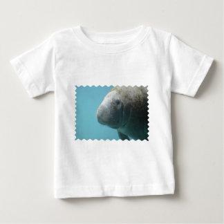 Large Manatee Underwater Baby T-Shirt