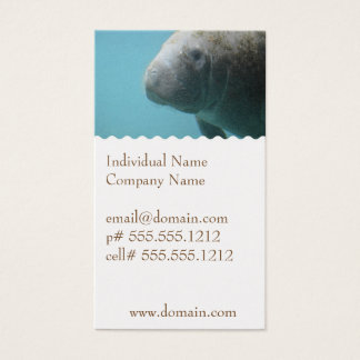 Large Manatee Underwater Business Card