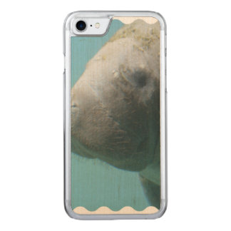 Large Manatee Underwater Carved iPhone 7 Case