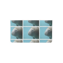 Large Manatee Underwater Checkbook Cover