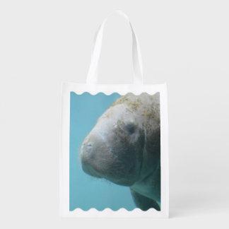 Large Manatee Underwater Grocery Bag