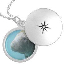 Large Manatee Underwater Locket Necklace
