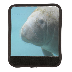 Large Manatee Underwater Luggage Handle Wrap
