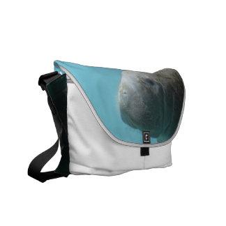 Large Manatee Underwater Messenger Bag