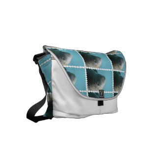 Large Manatee Underwater Small Messenger Bag