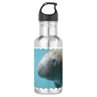 Large Manatee Underwater Water Bottle