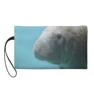 Large Manatee Underwater Wristlet Purse