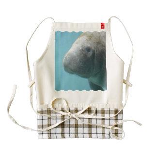 Large Manatee Underwater Zazzle HEART Apron