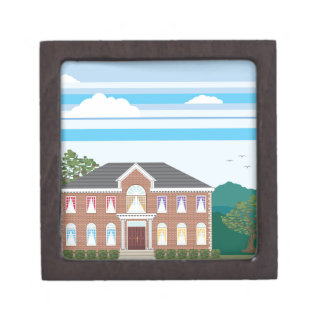 Large mansion house jewelry box