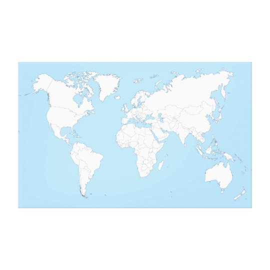 Large map OF the world Canvas Print | Zazzle.com