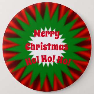 Large Merry Christmas Button