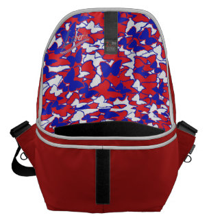 Large Messenger Bag with inside butterfly print