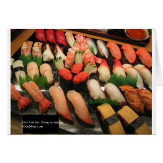 Large Mixed Sushi Plate Gifts Mugs & Collectibles Greeting Card