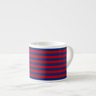 Large Modern Vibrant Horizontal Stripes Decor Espresso Cup