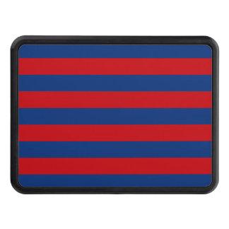 Large Modern Vibrant Horizontal Stripes Decor Hitch Cover