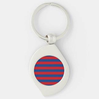 Large Modern Vibrant Horizontal Stripes Decor Keychain