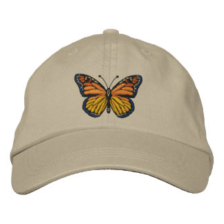 Large Monarch Butterfly Embroidery Embroidered Baseball Cap